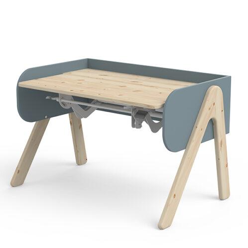 Tavolo da studio WOODY con piano regolabile