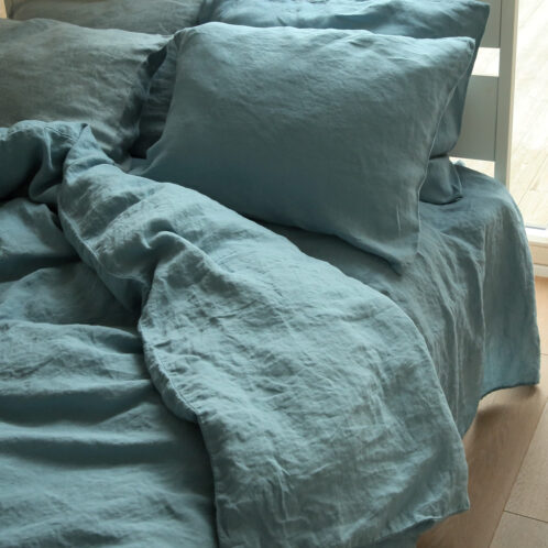 Set Letto stone washed blu