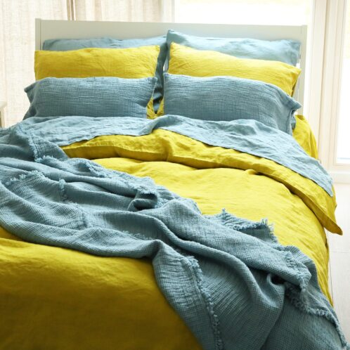 Set letto stone washed giallo